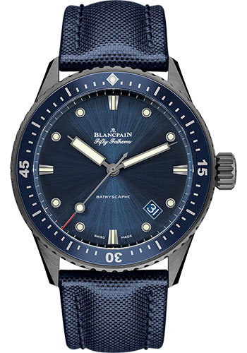 Blancpain Watches - Fifty Fathoms Bathyscaphe - Grey Ceramic - Style No: 5000-0240-O52A
