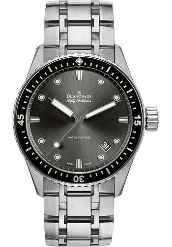 Blancpain Watches - Fifty Fathoms Bathyscaphe - Stainless Steel - Style No: 5000-1110-70B