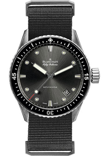Blancpain Watches - Fifty Fathoms Bathyscaphe - Stainless Steel - Style No: 5000-1110-NABA