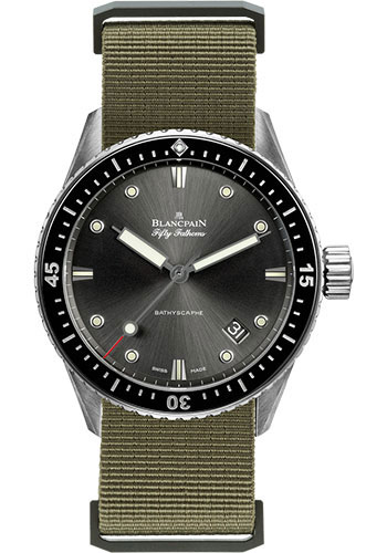 Blancpain Watches - Fifty Fathoms Bathyscaphe - Stainless Steel - Style No: 5000-1110-NAKA