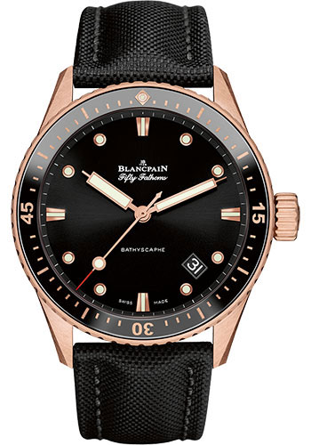 Blancpain Watches - Fifty Fathoms Bathyscaphe - Sedna Gold - Style No: 5000-36S30-B52 A