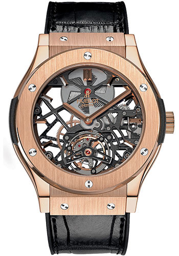 Hublot Watches - Classic Fusion 45mm Skeleton Tourbillon - Style No: 505.OX.0180.LR
