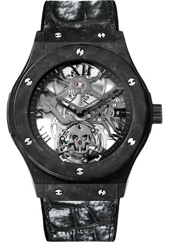 Hublot Watches - Classic Fusion 45mm Skull Tourbillon - Style No: 505.UC.0140.LR.SKULL