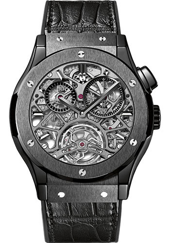 Hublot Watches - Classic Fusion 45mm Skeleton Tourbillon - Style No: 506.CM.0140.LR