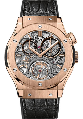 Hublot Watches - Classic Fusion 45mm Skeleton Tourbillon - Style No: 506.OX.0180.LR
