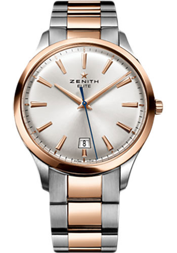 Zenith Watches - Captain Central Second Stainless Steel and Rose Gold - Style No: 51.2020.670/01.M2020
