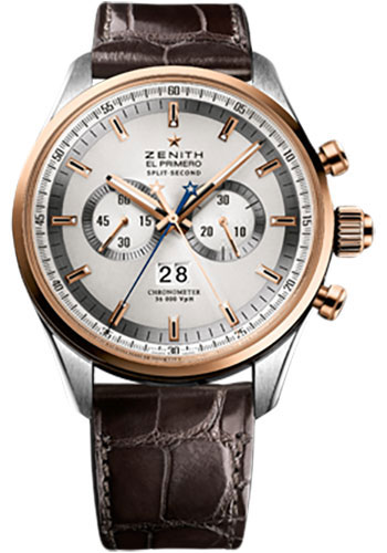 Zenith Watches - El Primero Rattrapante Stainless Steel and Rose Gold - Style No: 51.2050.4026/01.C713