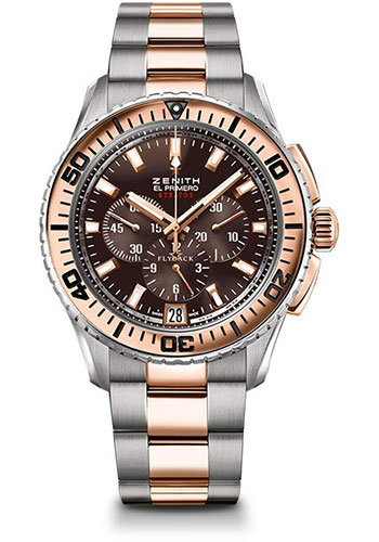 Zenith Watches - El Primero Stratos Flyback Steel and Rose Gold - Style No: 51.2061.405/75.M2060