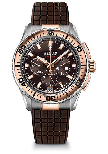 Zenith Watches - El Primero Stratos Flyback Steel and Rose Gold - Style No: 51.2061.405/75.R516