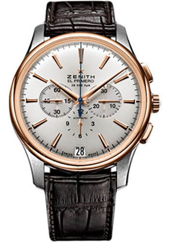 Zenith Watches - Captain Chronograph Stainless Steel and Rose Gold - Style No: 51.2112.400/01.C498