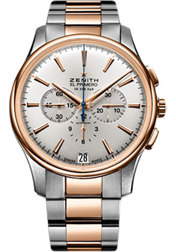 Zenith Watches - Captain Chronograph Stainless Steel and Rose Gold - Style No: 51.2112.400/01.M2110