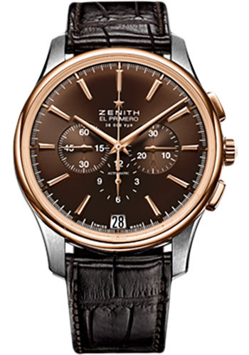 Zenith Watches - Captain Chronograph Stainless Steel and Rose Gold - Style No: 51.2112.400/75.C498