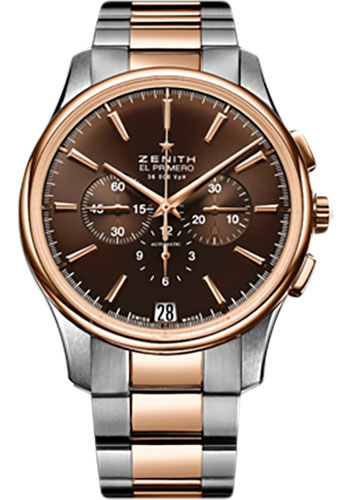 Zenith Watches - Captain Chronograph Stainless Steel and Rose Gold - Style No: 51.2112.400/75.M2110
