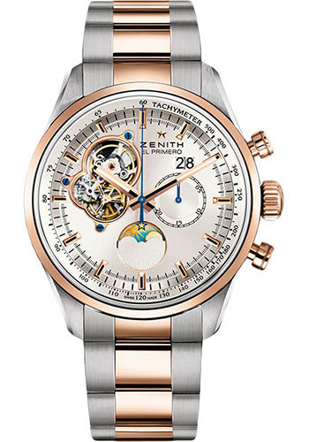 Zenith Watches - El Primero Chronomaster Grande Date Steel and Rose Gold - Style No: 51.2160.4047/01.M2160