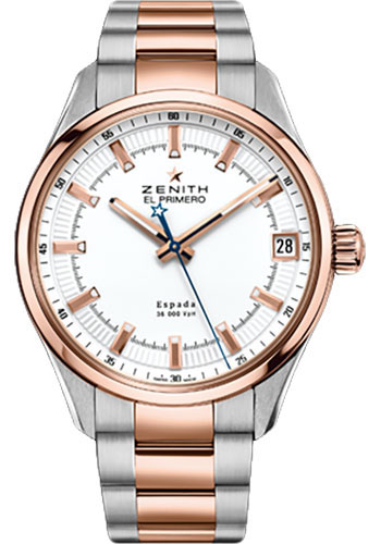 Zenith Watches - El Primero Espada Stainless Steel and Rose Gold - Style No: 51.2170.4650/01.M2170