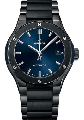 Hublot Classic Fusion 45mm Ceramic Blue Watches From