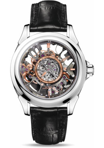 Omega Watches - De Ville Tourbillon Co-Axial 38.7 mm - Platinum - Style No: 513.93.39.21.99.001