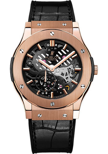 Hublot Watches - Classic Fusion Ultra-Thin Skeleton King Gold - Style No: 515.OX.0180.LR