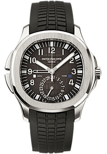 Patek Philippe Watches - Aquanaut Mens Dual Time - Style No: 5164A-001