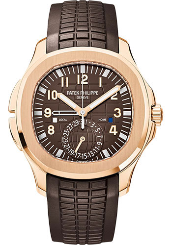 Patek Philippe Watches - Aquanaut Mens Dual Time - Style No: 5164R-001