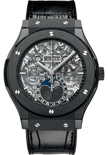Hublot Watches - Classic Fusion 45mm Aerofusion Moonphase - Black Magic - Style No: 517.CX.0170.LR