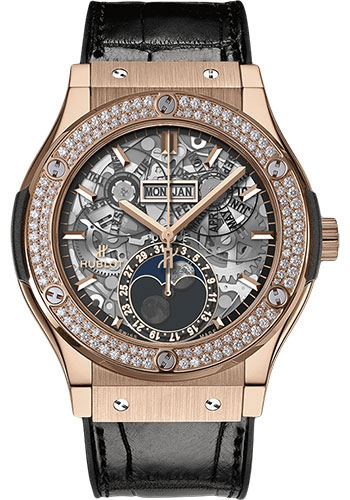 Hublot Watches - Classic Fusion 45mm Aerofusion Moonphase - King Gold - Style No: 517.OX.0180.LR.1104
