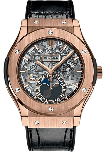 Hublot Watches - Classic Fusion 45mm Aerofusion Moonphase - King Gold - Style No: 517.OX.0180.LR