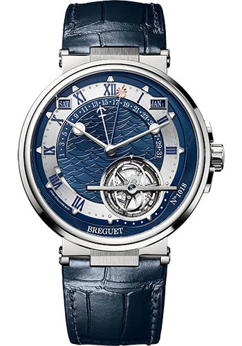 Breguet Watches - Marine 5887 - Equation Marchante - 44mm - Style No: 5887PT/Y2/9WV
