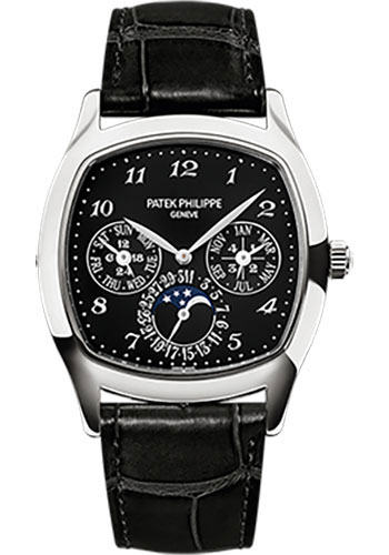 Patek Philippe Watches - Grand Complications Perpetual Calendar Moonphase - Cushion Shaped - Style No: 5940G-010