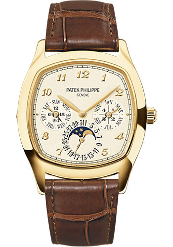 Patek Philippe Watches - Grand Complications Perpetual Calendar Moonphase - Cushion Shaped - Style No: 5940J-001
