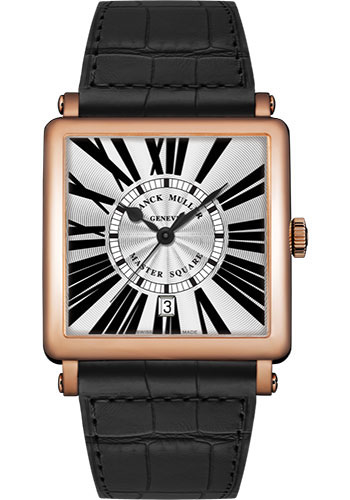 Franck Muller Watches - Master Square - 36 mm - Style No: 6000 H SC DT R 5N White Black