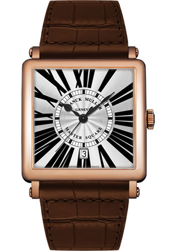 Franck Muller Watches - Master Square - 36 mm - Style No: 6000 H SC DT R 5N White Brown