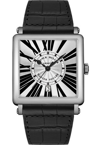 Franck Muller Watches - Master Square - 42 mm - Style No: 6000 K SC DT R OG White Black
