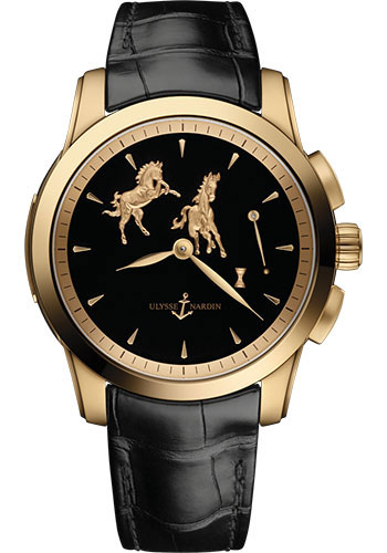 Ulysse Nardin Watches - Classic Hourstriker 43mm - Rose Gold - Style No: 6106-130/E2-HORSE
