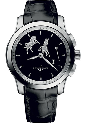 Ulysse Nardin Watches - Classic Hourstriker 43mm - Platinum - Style No: 6109-130/E2-HORSE