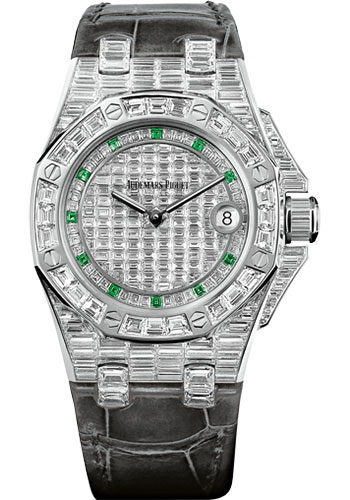 Audemars Piguet Watches - Royal Oak Offshore Quartz 37mm - White Gold - Style No: 67543BC.ZZ.D204CR.01