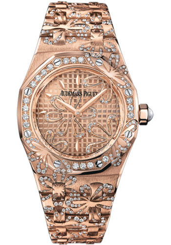 Audemars Piguet Watches - Royal Oak Lady Floral - Style No: 67617OR.ZZ.1235OR.01