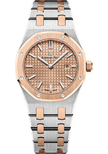 Audemars Piguet Watches - Royal Oak Quartz 33mm - Steel And Pink Gold - Style No: 67650SR.OO.1261SR.01