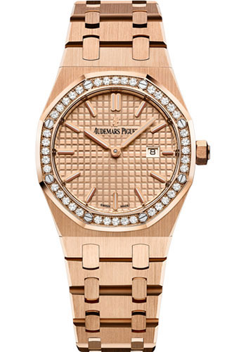Audemars Piguet Watches - Royal Oak Quartz 33mm - Pink Gold - Style No: 67651OR.ZZ.1261OR.03