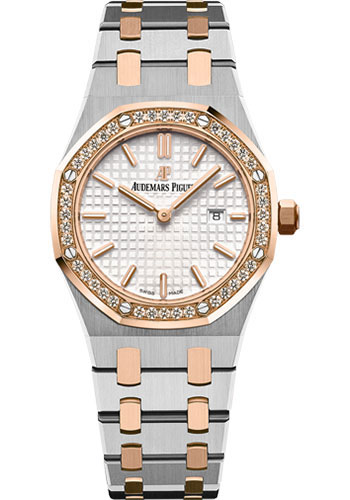 Audemars Piguet Watches - Royal Oak Quartz 33mm - Steel And Pink Gold - Style No: 67651SR.ZZ.1261SR.01