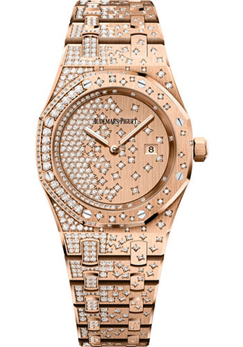 Audemars Piguet Watches - Royal Oak Quartz 33mm - Pink Gold - Style No: 67654OR.ZZ.1264OR.01