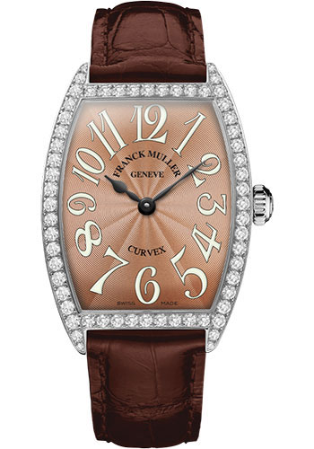 Franck Muller Watches - Cintre Curvex - Quartz - 34 mm Stainless Steel - Dia Case - Strap - Style No: 6852 QZ DP AC Bronze