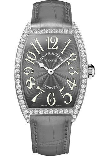 Franck Muller Watches - Cintre Curvex - Quartz - 34 mm Stainless Steel - Dia Case - Strap - Style No: 6852 QZ DP AC Grey