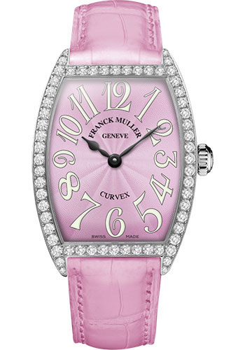 Franck Muller Watches - Cintre Curvex - Quartz - 34 mm Stainless Steel - Dia Case - Strap - Style No: 6852 QZ DP AC Pink