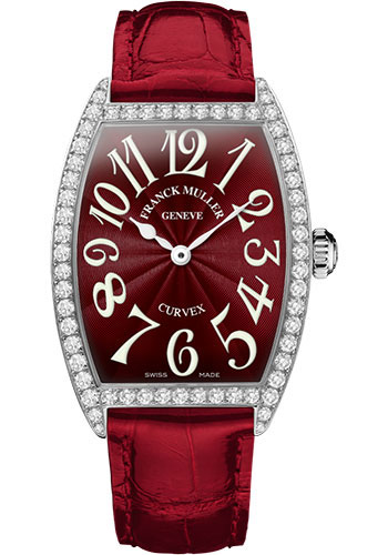 Franck Muller Watches - Cintre Curvex - Quartz - 34 mm Stainless Steel - Dia Case - Strap - Style No: 6852 QZ DP AC Red