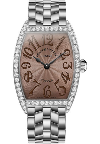 Franck Muller Watches - Cintre Curvex - Quartz - 34 mm Stainless Steel - Dia Case - Bracelet - Style No: 6852 QZ DP O AC Chocolate