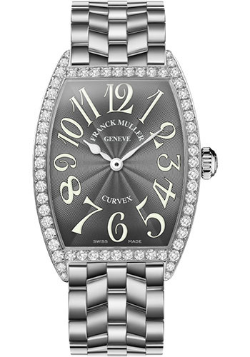 Franck Muller Watches - Cintre Curvex - Quartz - 34 mm Stainless Steel - Dia Case - Bracelet - Style No: 6852 QZ DP O AC Grey