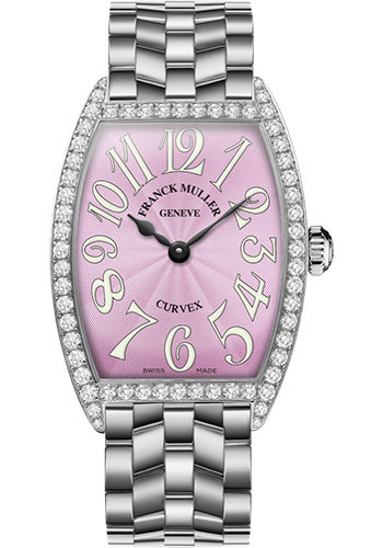 Franck Muller Watches - Cintre Curvex - Quartz - 34 mm Stainless Steel - Dia Case - Bracelet - Style No: 6852 QZ DP O AC Pink