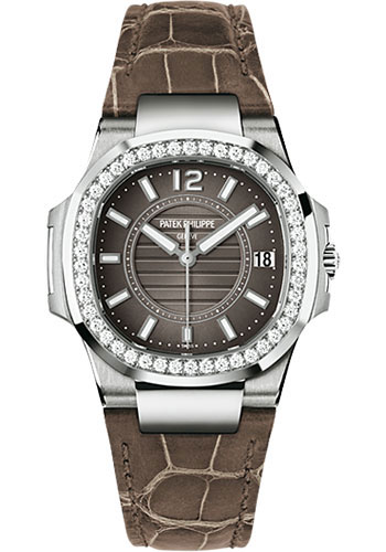 Patek philippe nautilus ladies white gold watches for Patek philippe women