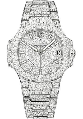 Philippe Patek White - 34mm Nautilus Gold Watches